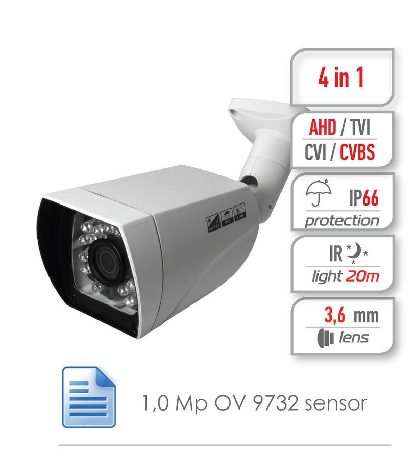Камера видеонаблюдения GINZZU HAB-1034O,  3.6 мм,  белый