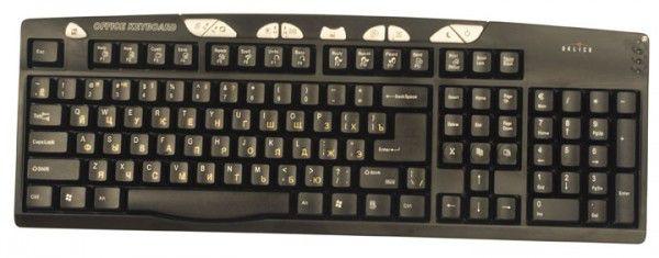 Клавиатура OKLICK 510S,  PS/2+USB, черный