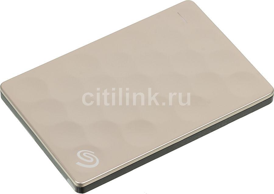 Внешний жесткий диск SEAGATE Ultra Slim STEH1000201, 1Тб, золотистый