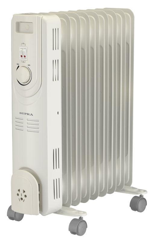 Масляный радиатор SUPRA ORS-09-S2, 2000Вт, белый