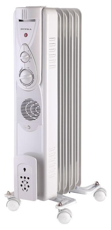 Масляный радиатор SUPRA ORS-05-F1, 1000Вт, белый