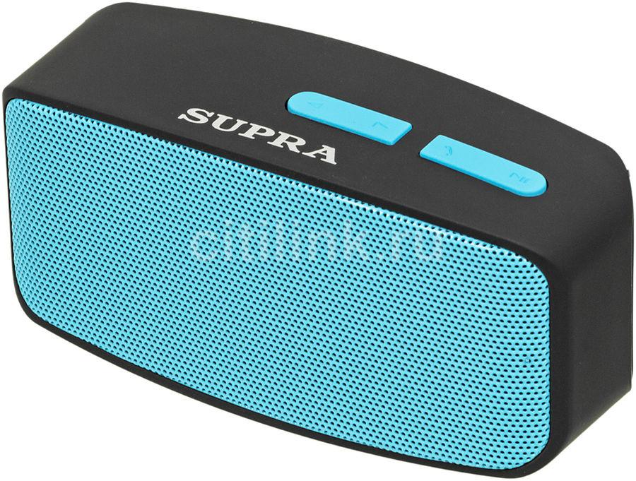 Аудиомагнитола SUPRA BTS-530,  черный и голубой