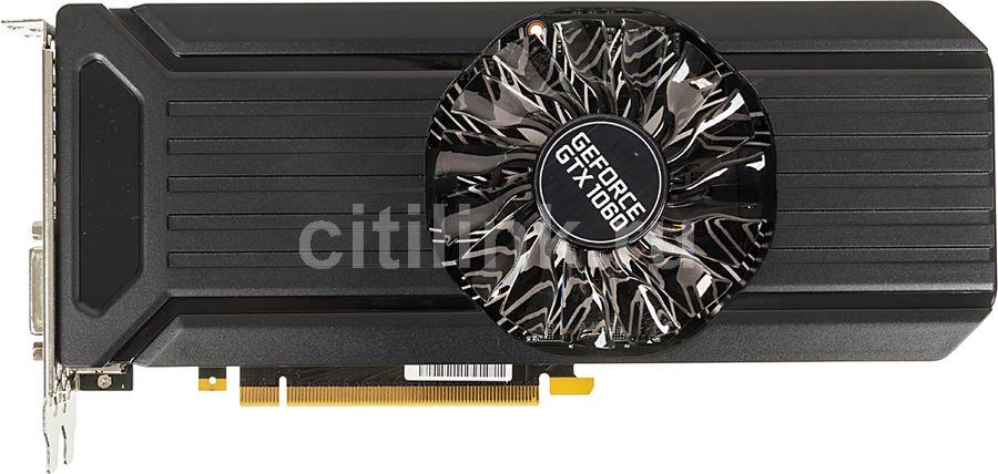 Видеокарта PALIT nVidia  GeForce GTX 1060 ,  PA-GTX1060 STORMX 3G,  3Гб, GDDR5, Ret [ne51060015f9-1061f]