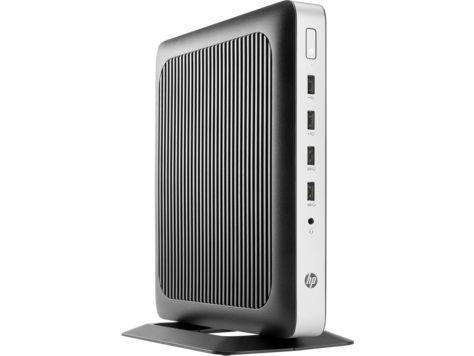 Тонкий клиент  HP t630,  AMD  GX-420Gl,  DDR4 8Гб, 32Гб(SSD),  AMD Radeon R6E,  Windows 10 IoT Enterprise,  черный и серебристый [x4x22aa]