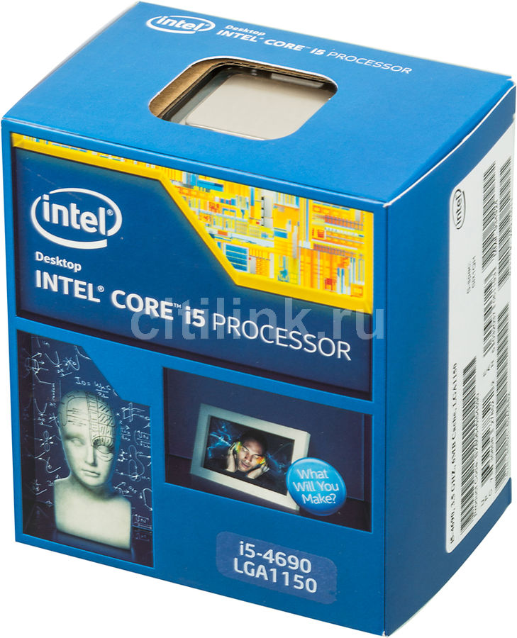 Процессор INTEL Core i5 4690, LGA 1150 ** BOX [bx80646i54690 s r1qh]