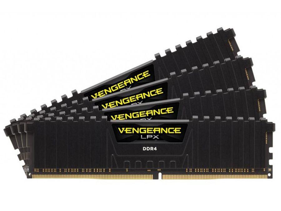Модуль памяти CORSAIR Vengeance LPX CMK32GX4M4B3200C16 DDR4 -  4x 8Гб 3200, DIMM,  Ret