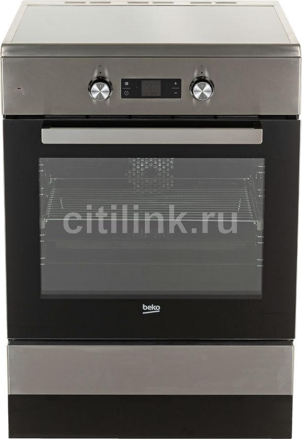Электрическая плита BEKO FSM69300GXT,  стеклокерамика,  нержавеющая сталь