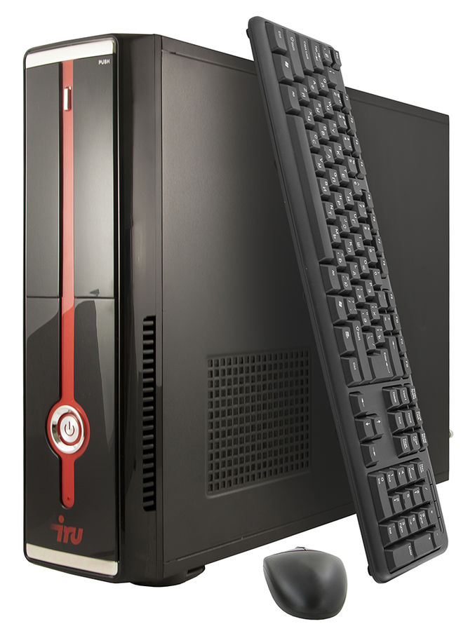Компьютер  IRU Office 511,  Intel  Core i5  6400,  DDR4 4Гб, 1Тб,  Intel HD Graphics 530,  DVD-RW,  Windows 7 Professional,  черный [393382]