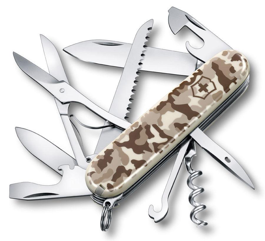 Складной нож VICTORINOX Huntsman, 15 функций,  91мм, камуфляж пустыни  [1.3713.941]