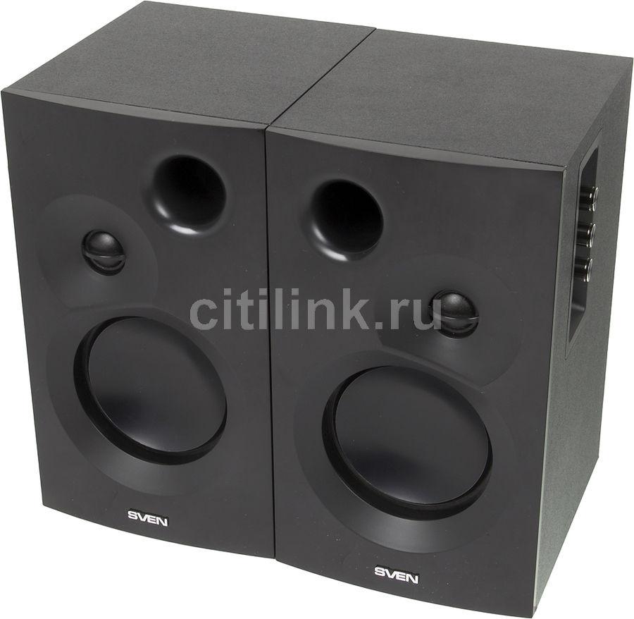 Колонки SVEN SPS-635,  2.0,  черный