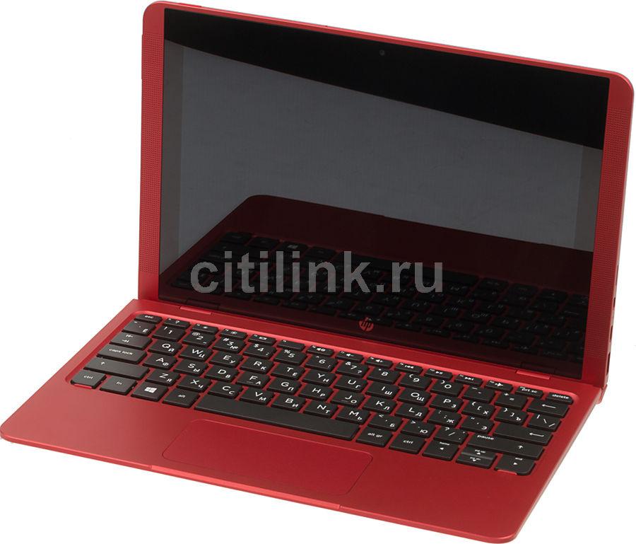 """Ноутбук-трансформер HP X2 Detachable 10-p001ur, 10.1"""", Intel  Atom X5  Z8350 1.44ГГц, 2Гб, 32Гб eMMC,  Intel HD Graphics  400, Windows 10, Y5V03EA,  красный"""