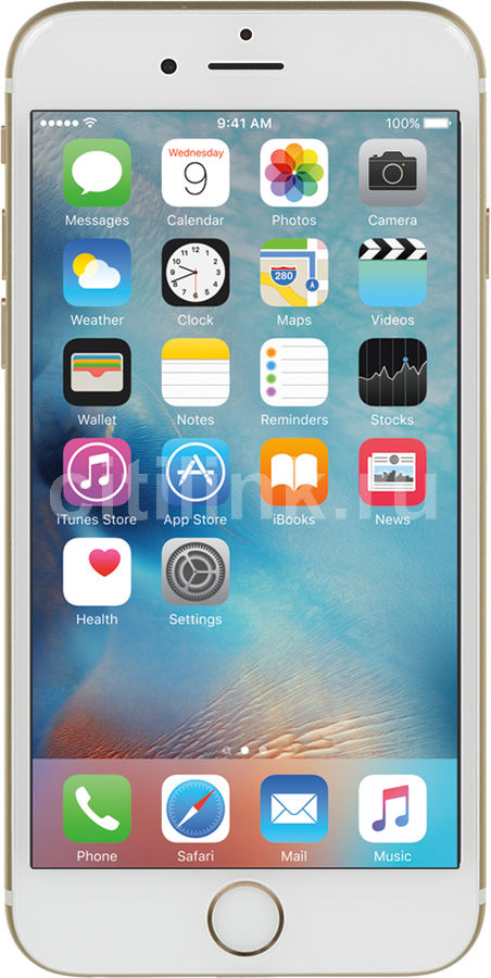 Смартфон APPLE iPhone 6s 32Gb,  MN112RU/A,  золотистый