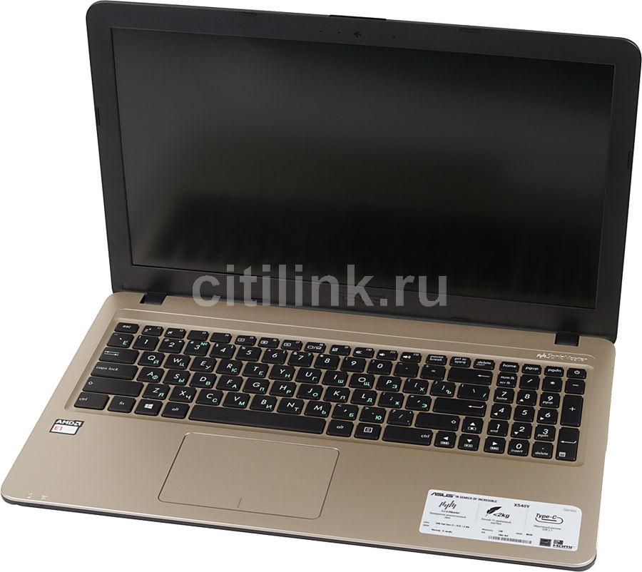 "Ноутбук ASUS X540YA-XO047D, 15.6"",  AMD  E1  7010 1.5ГГц, 2Гб, 500Гб,  AMD Radeon  R2, Free DOS, 90NB0CN1-M00660,  черный"