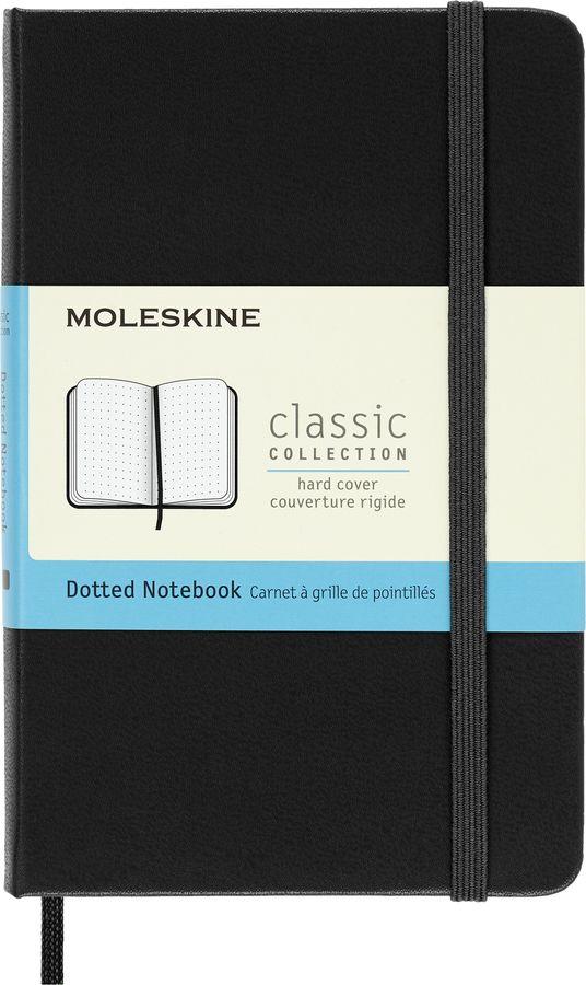 Блокнот Moleskine CLASSIC Pocket 90x140мм 192стр. пунктир твердая обложка черный