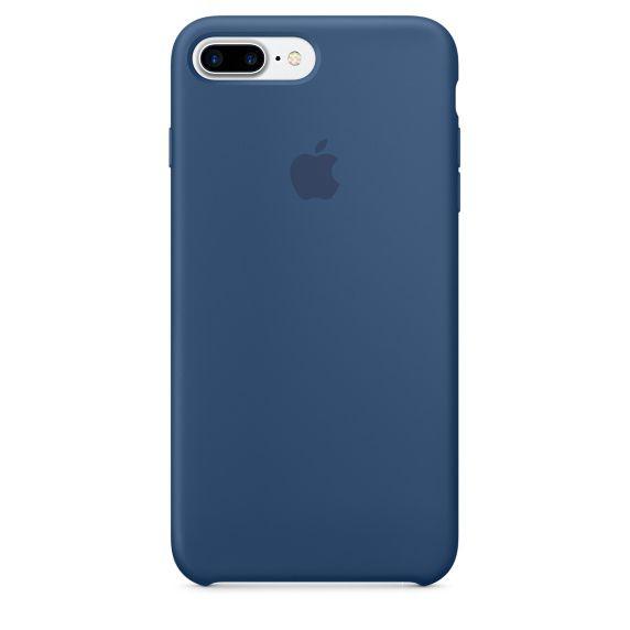Чехол (клип-кейс) APPLE MMQX2ZM/A, для Apple iPhone 7 Plus, синий
