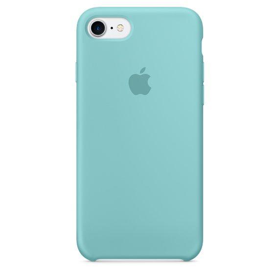 Чехол (клип-кейс) APPLE MMX02ZM/A, для Apple iPhone 7, голубой