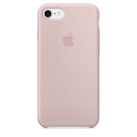 Чехол (клип-кейс) APPLE MMX12ZM/A, для Apple iPhone 7, светло-розовый