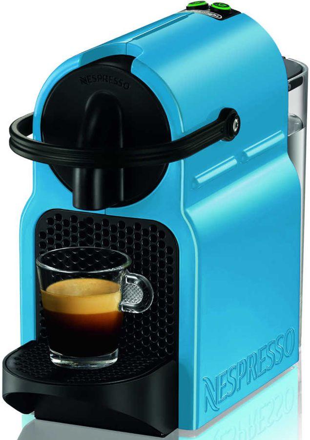 Капсульная кофеварка DELONGHI Nespresso EN80PBL, 1260Вт, цвет: голубой [132191147]