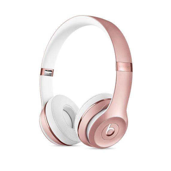 Гарнитура BEATS Solo3, накладные,  розовое золото/белый, беспроводные bluetooth