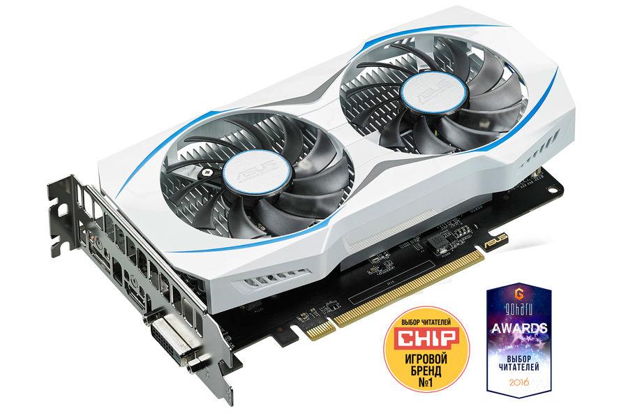 Видеокарта ASUS AMD  Radeon RX 460 ,  DUAL-RX460-O2G,  2Гб, GDDR5, OC,  Ret