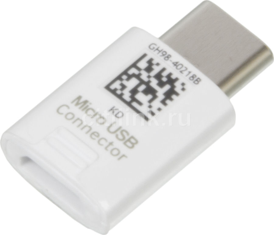Адаптер SAMSUNG EE-GN930,  microUSB -  USB Type-C,  белый [ee-gn930bwrgru]