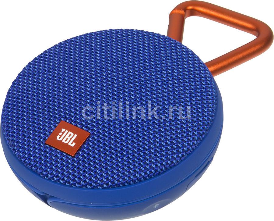 Портативная колонка JBL Clip 2,  3Вт, синий  [jblclip2blue]