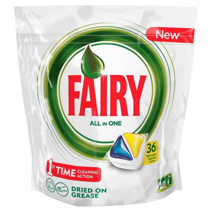 Средство для мытья посуды FAIRY Original All In One,  Лимон, 36шт, для посудомоечных машин [fr-81574814]