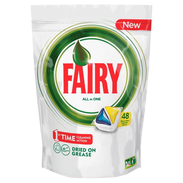 Средство для мытья посуды FAIRY Original All In One,  для посудомоечных машин,  Лимон,  48 [fr-81574815]