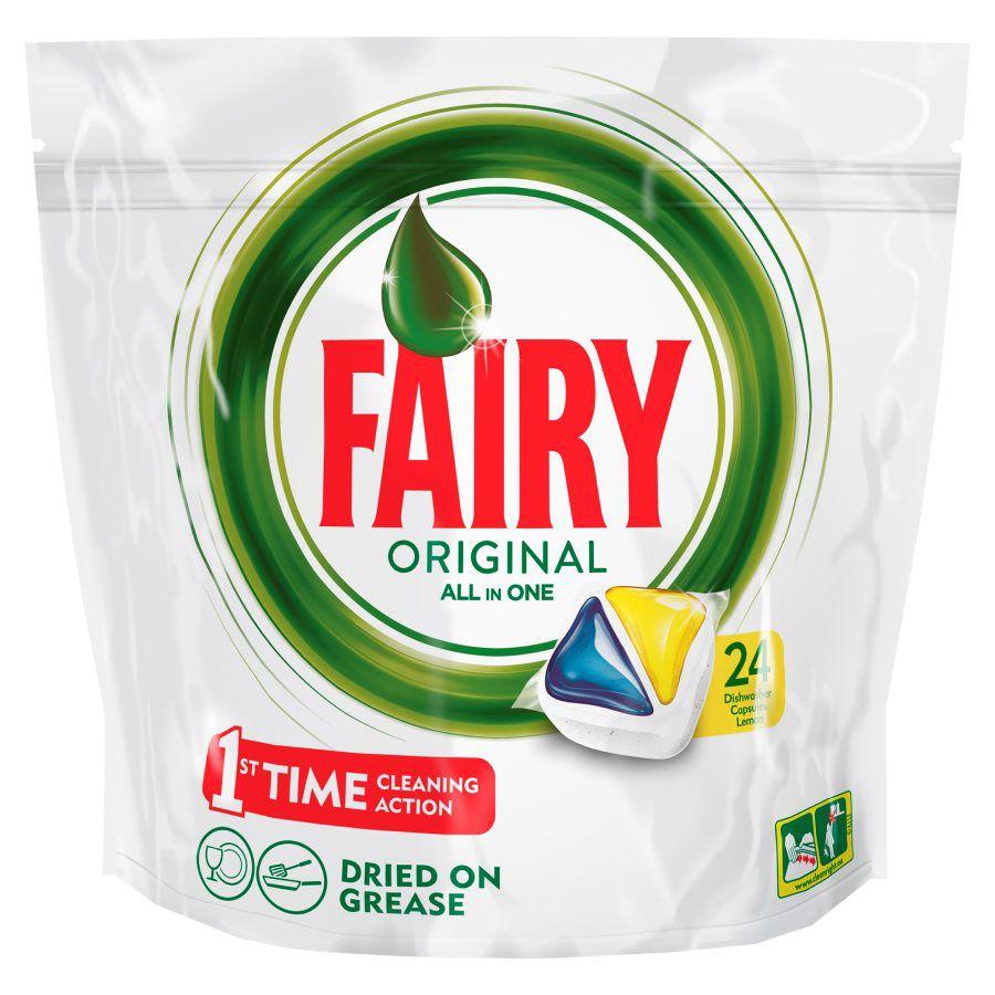 Средство для мытья посуды FAIRY Original All In One,  Лимон, 24шт, для посудомоечных машин [fr-81574818]