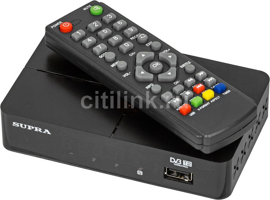 Ресивер DVB-T2 SUPRA SDT-90,  черный