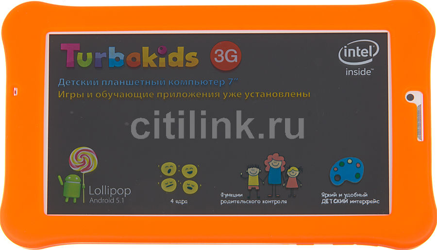 ������� ������� TURBO TurboKids 3G 8Gb, Wi-Fi, 3G, Android 5.1, �����/��������� [��00020453]
