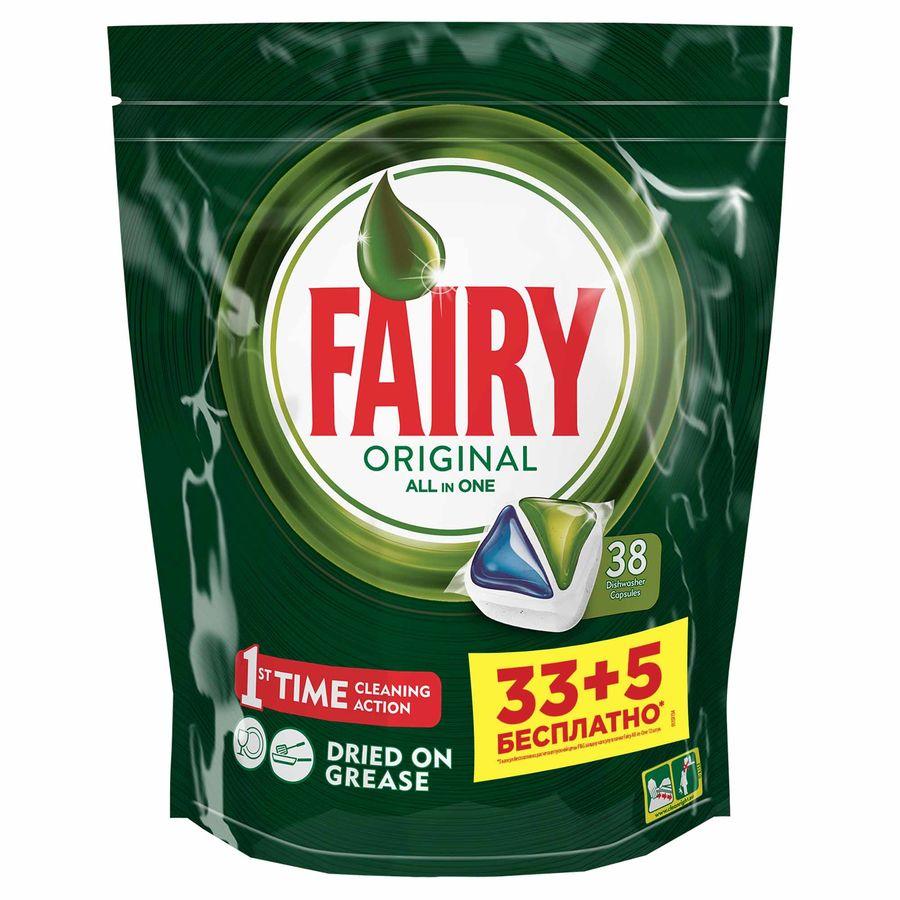 Капсулы FAIRY Original All In One,  (33+5 штук), 38шт, для посудомоечных машин [fr-81576958]