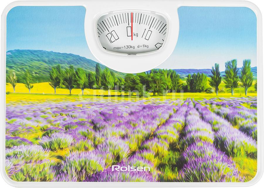 Весы ROLSEN RSM1304 Impression, до 130кг, цвет: рисунок
