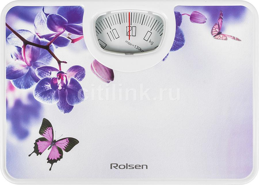 Весы ROLSEN RSM1304 Sunset, до 130кг, цвет: рисунок