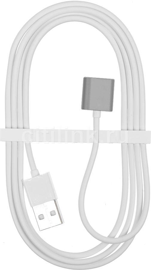 Кабель  Magnetic,  Apple iPhone 5/5c/5S/6/6+/6s/6s+/SE Apple iPad 4/mini/Air Apple iPod touch (5), nano (7) 1.2м, серый,  40-pin (Asus) -  USB [snap-c1a-1-sg]