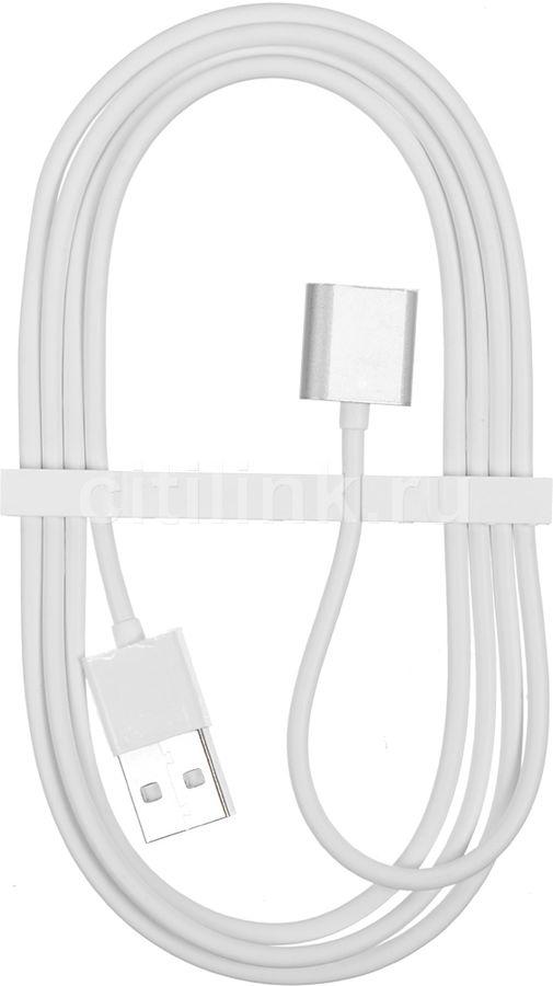 Кабель  Magnetic,  Apple iPhone 5/5c/5S/6/6+/6s/6s+/SE Apple iPad 4/mini/Air Apple iPod touch (5), nano (7) 1.2м, серебристый,  Lightning -  USB [snap-c1a-1-si]