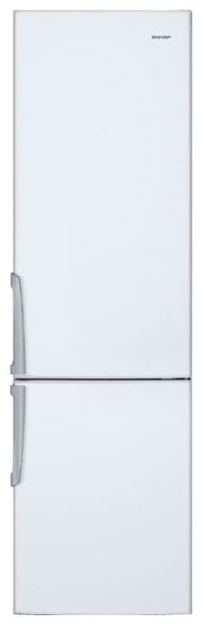 Холодильник SHARP SJ-B132ZR-WH,  двухкамерный,  белый