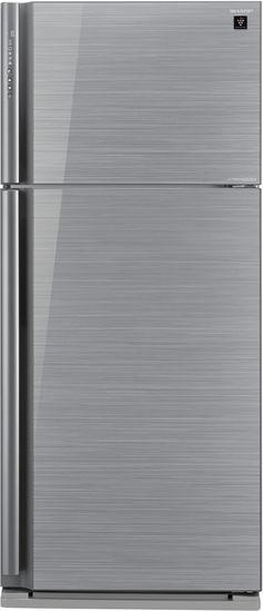 Холодильник SHARP SJ-XP59PGSL,  двухкамерный,  серебристое стекло