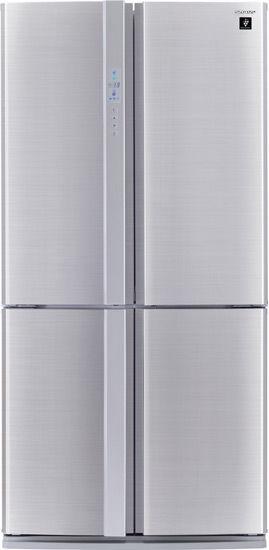Холодильник SHARP SJ-FP97VST,  трехкамерный, нержавеющая сталь