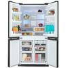 Холодильник SHARP SJ-FP97VBK,  трехкамерный, черный вид 2