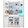 Холодильник SHARP SJ-FP97VBE,  двухкамерный, бежевый вид 2