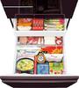Холодильник SHARP SJ-GF60AR,  четырехкамерный, черный рубин/стекло вид 4