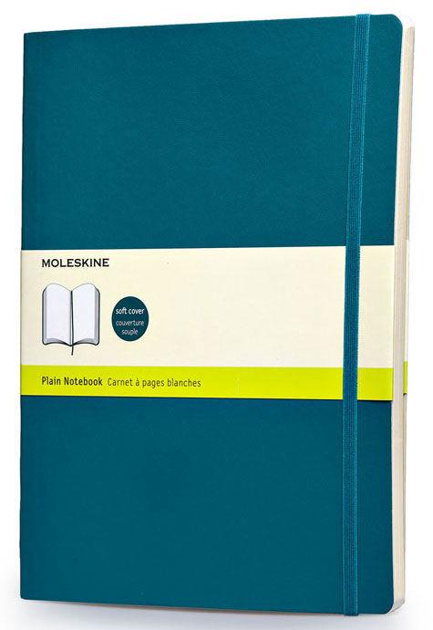 Блокнот Moleskine CLASSIC SOFT XLarge 190х250мм 192стр. нелинованный мягкая обложка бирюзовый