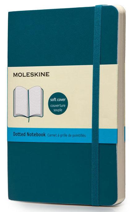 Блокнот Moleskine CLASSIC SOFT Pocket 90x140мм 192стр. пунктир мягкая обложка фиксирующая резинка би [qp614b6]