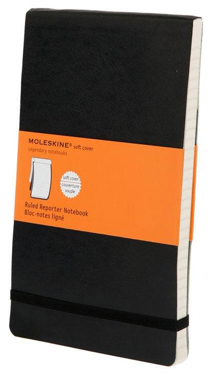 Блокнот Moleskine REPORTER SOFT Large 130х210мм 192стр. линейка мягкая обложка черный