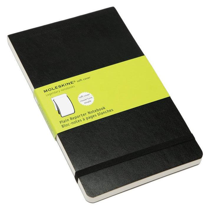 Блокнот Moleskine REPORTER SOFT Large 130х210мм 192стр. нелинованный мягкая обложка черный