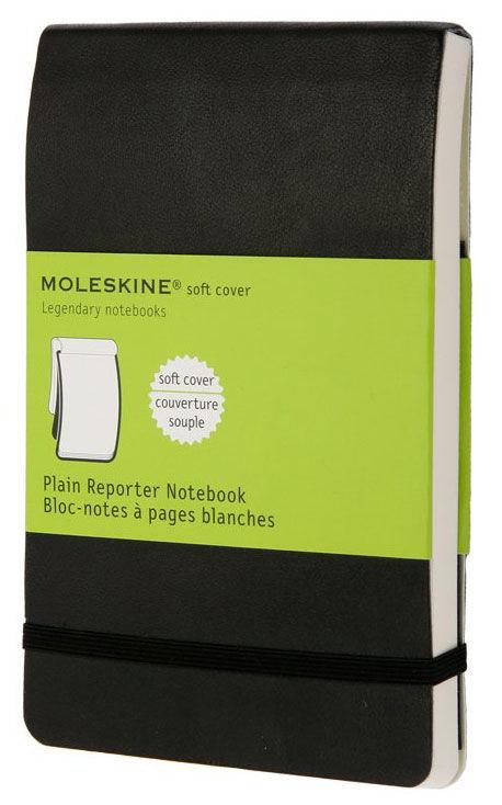 Блокнот Moleskine REPORTER SOFT Pocket 90x140мм 192стр. нелинованный мягкая обложка черный
