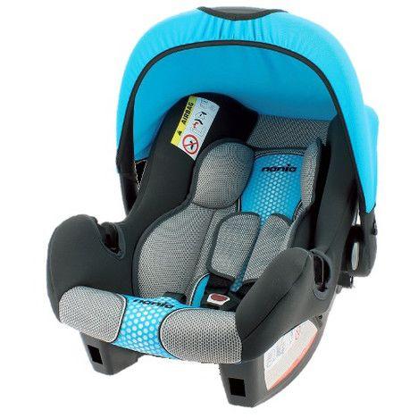Автокресло детское NANIA Beone SP FST (pop blue), 0/0+, черный/голубой [483608]