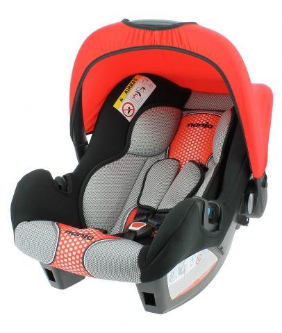 Автокресло детское NANIA Beone SP FST (pop red), 0/0+, черный/красный [484607]