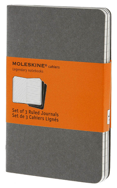 Блокнот Moleskine CAHIER JOURNAL POCKET 90x140мм обложка картон 64стр. линейка серый (3шт)
